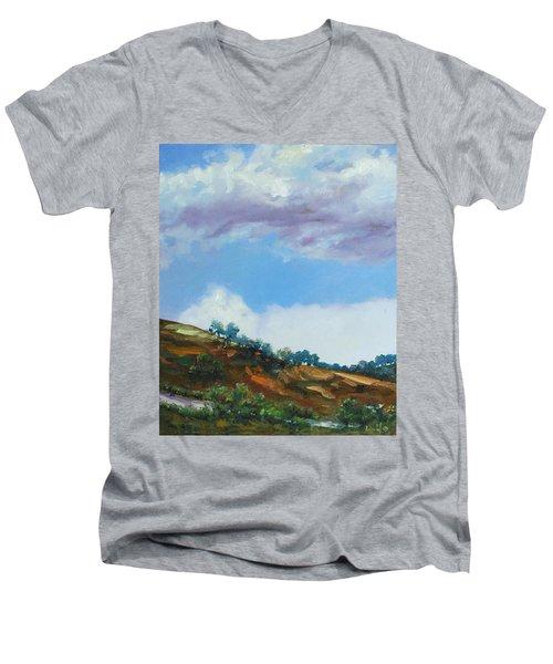 Clouds Men's V-Neck T-Shirt by Rick Nederlof