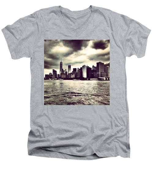 Cloudy Day In #nyc Men's V-Neck T-Shirt