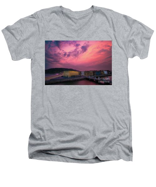 Cloudy  Men's V-Neck T-Shirt