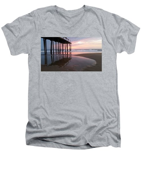 Cloudy Morning Reflections Men's V-Neck T-Shirt