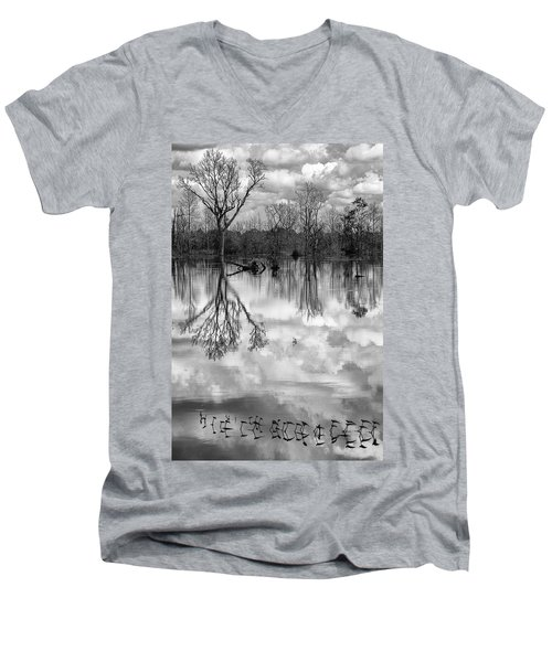 Cloudy Reflection Men's V-Neck T-Shirt by Hitendra SINKAR