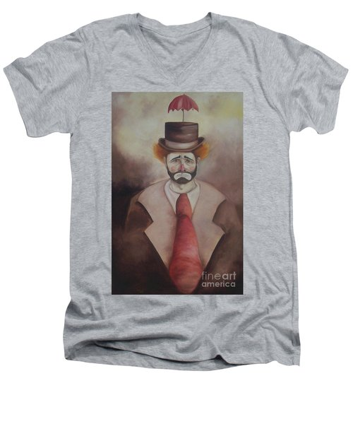 Clown Men's V-Neck T-Shirt by Marlene Book