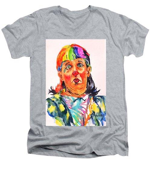 Clown Series Oh No  Men's V-Neck T-Shirt