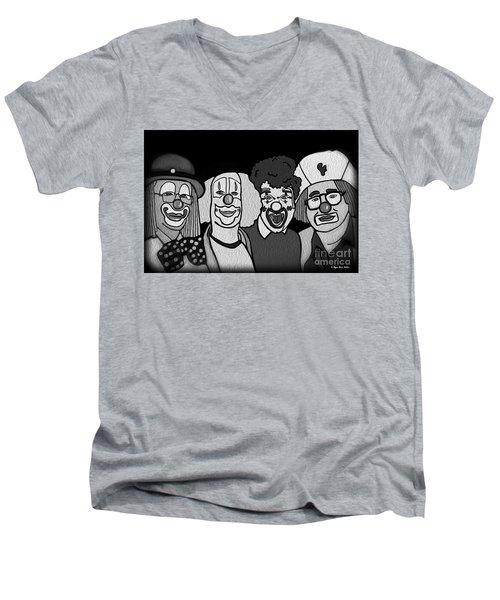 Clowns Bw Men's V-Neck T-Shirt