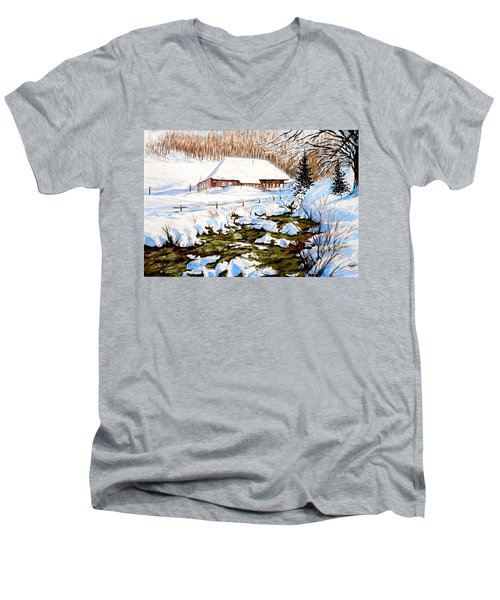 Clubhouse In Winter Men's V-Neck T-Shirt