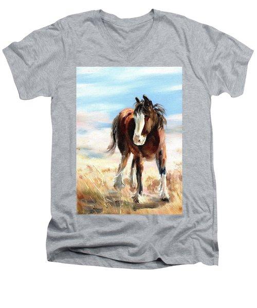 Clydesdale Foal Men's V-Neck T-Shirt