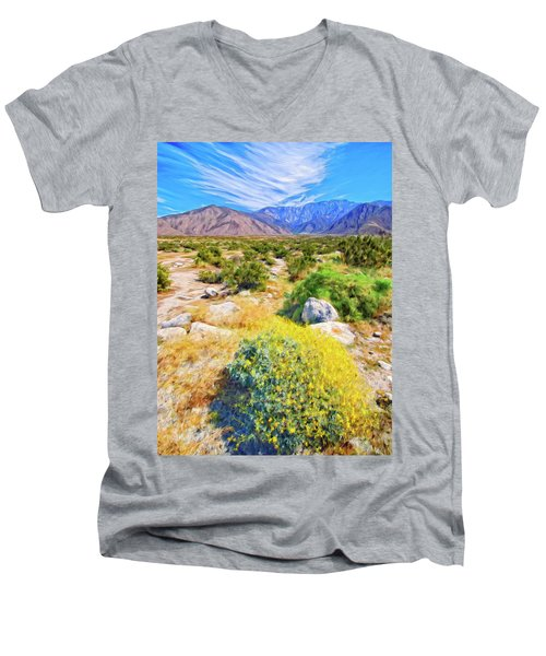 Coachella Spring Men's V-Neck T-Shirt by Dominic Piperata