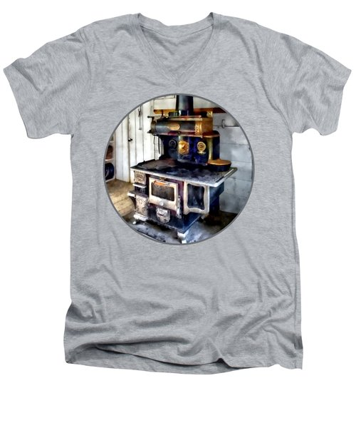Coal Stove In Kitchen Men's V-Neck T-Shirt