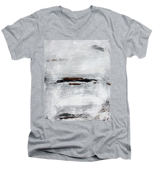 Coast # 10 Seascape Landscape Original Fine Art Acrylic On Canvas Men's V-Neck T-Shirt