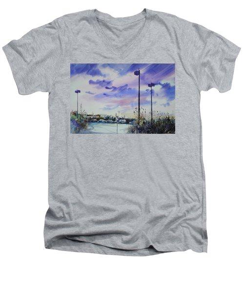 Coastal Beach Highway Men's V-Neck T-Shirt by P Anthony Visco