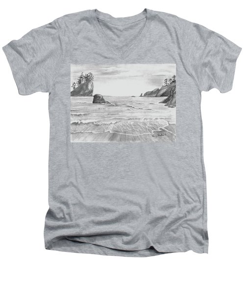 Coastal Beach Men's V-Neck T-Shirt