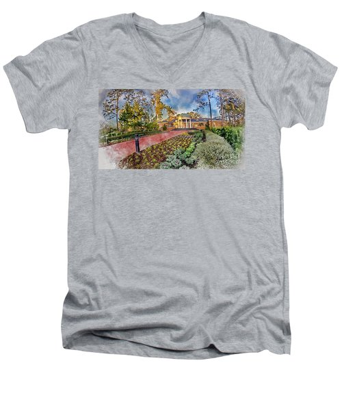 Coastal Carolina University Digital Watercolor Men's V-Neck T-Shirt by David Smith