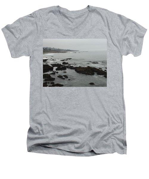 Coastal Fog Men's V-Neck T-Shirt