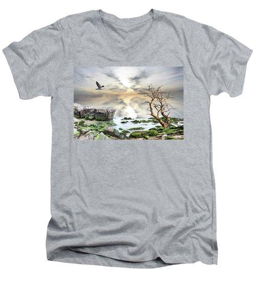 Men's V-Neck T-Shirt featuring the photograph Coastal Landscape  by Angel Jesus De la Fuente