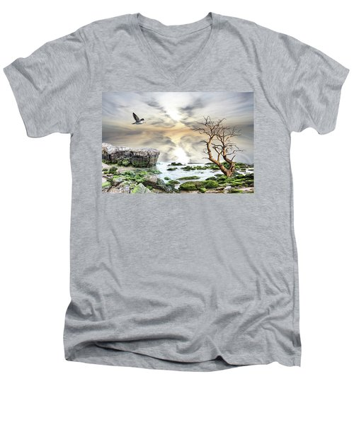 Coastal Landscape  Men's V-Neck T-Shirt