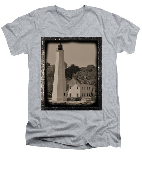 Coastal Lighthouse 2 Men's V-Neck T-Shirt