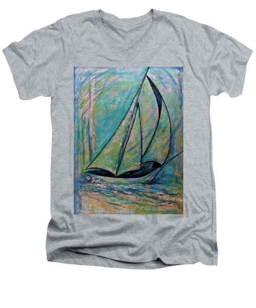 Coastal Metallic Men's V-Neck T-Shirt