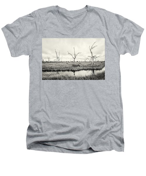 Men's V-Neck T-Shirt featuring the photograph Coastal Skeletons by Andy Crawford