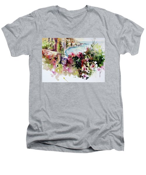 Coastal Vista Men's V-Neck T-Shirt