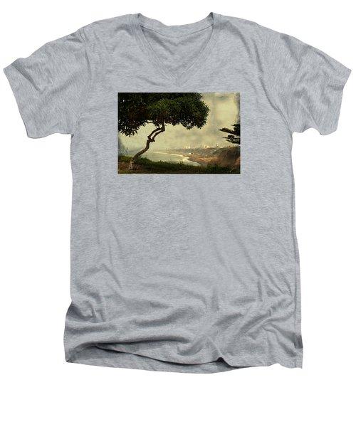Coastline Of Lima, Peru Men's V-Neck T-Shirt