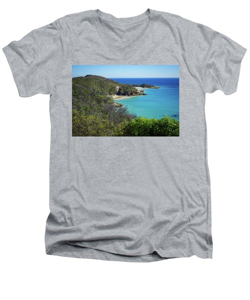 Coastline Views On Moreton Island Men's V-Neck T-Shirt