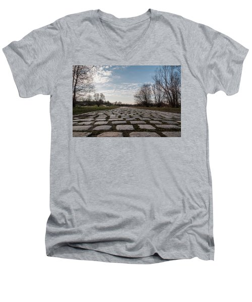 Men's V-Neck T-Shirt featuring the photograph Cobble-stones by Sergey Simanovsky