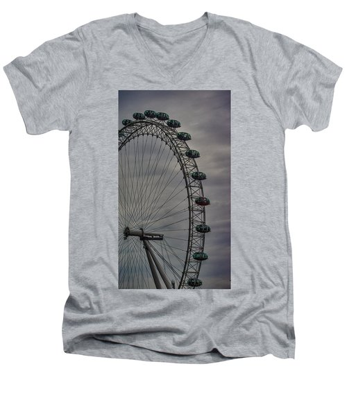 Coca Cola London Eye Men's V-Neck T-Shirt by Martin Newman