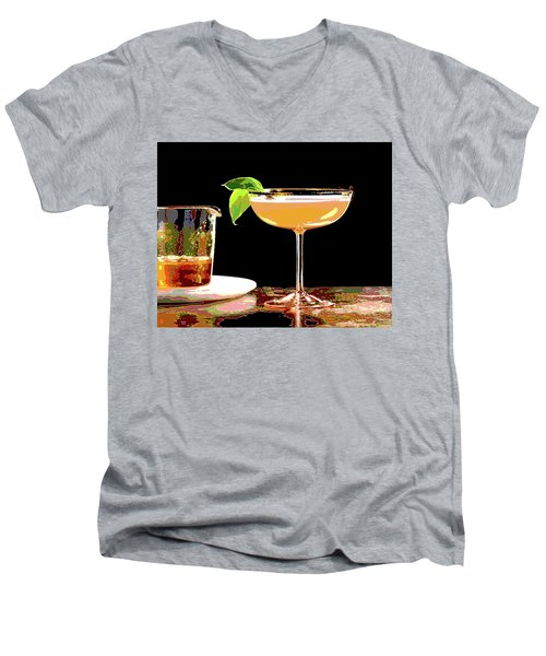 Cocktail And Dreams Men's V-Neck T-Shirt by Charles Shoup