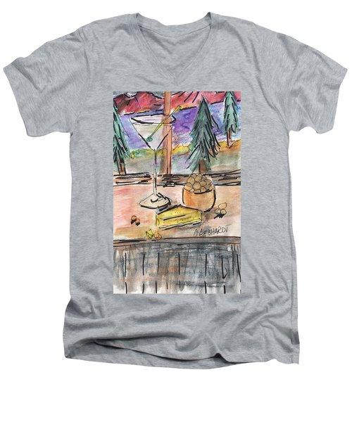 Cocktail At Tahoe  Men's V-Neck T-Shirt