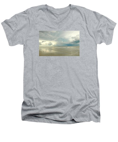 Coco Beach Men's V-Neck T-Shirt by Raymond Earley
