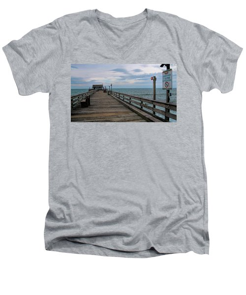 Cocoa Beach  Men's V-Neck T-Shirt by Pat Cook