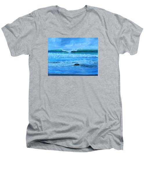 Cocoa Beach Surf Men's V-Neck T-Shirt by AnnaJo Vahle
