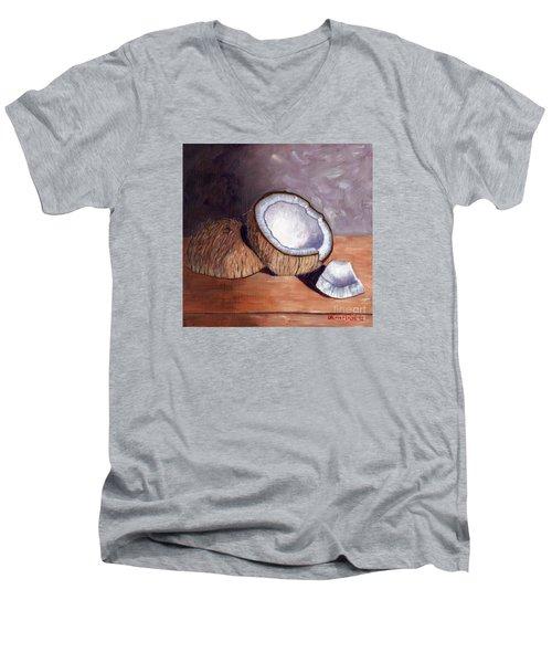 Coconut Anyone? Men's V-Neck T-Shirt