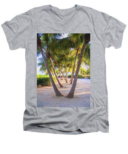 Coconut Palms Inn Beachfront Men's V-Neck T-Shirt