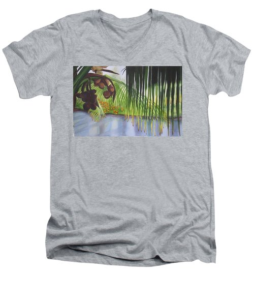 Coconut Tree Men's V-Neck T-Shirt