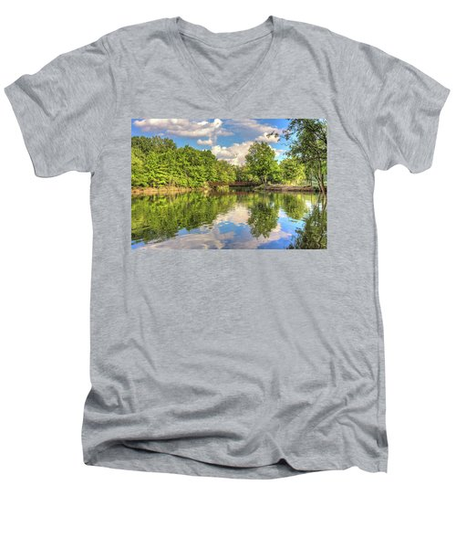 Coe Lake Men's V-Neck T-Shirt by Brent Durken