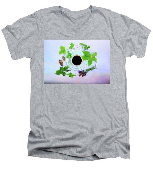 Coffee Delight Men's V-Neck T-Shirt