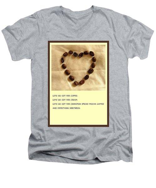 Coffee Shop Hopping Men's V-Neck T-Shirt