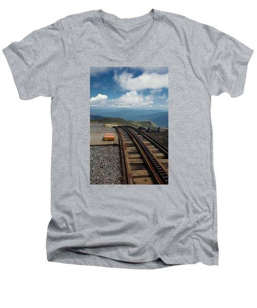 Cog Railway Stop Men's V-Neck T-Shirt