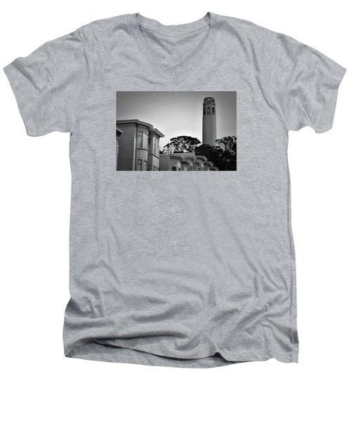 Coit Tower Men's V-Neck T-Shirt