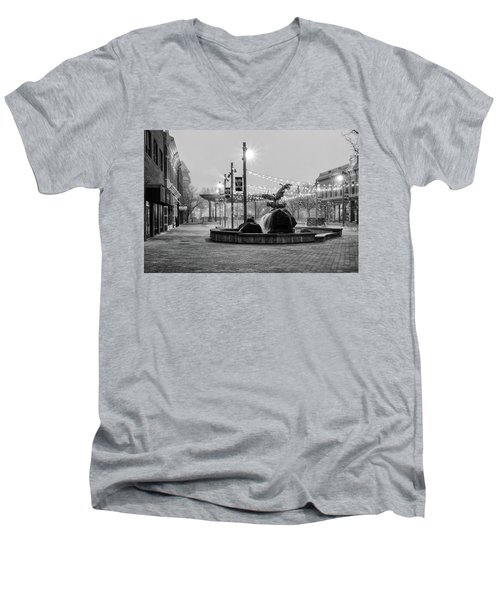 Cold And Foggy Morning Men's V-Neck T-Shirt by Monte Stevens
