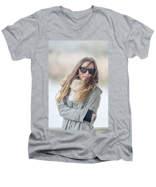 Cold And Windy Men's V-Neck T-Shirt