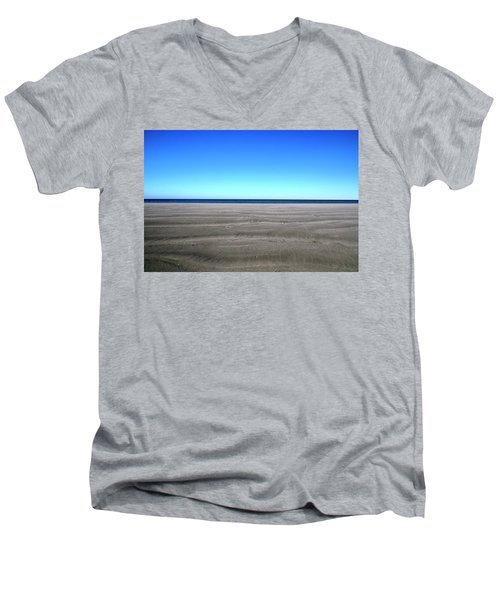 Cold Beach Day Men's V-Neck T-Shirt