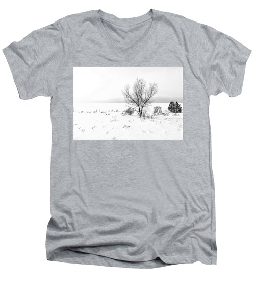 Men's V-Neck T-Shirt featuring the photograph Cold Loneliness by Hayato Matsumoto
