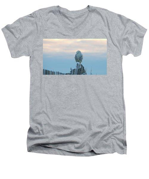 Cold Morning Light Men's V-Neck T-Shirt by Stephen Flint