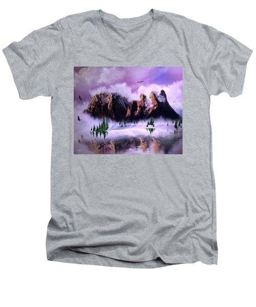 Cold Mountain Morning Men's V-Neck T-Shirt
