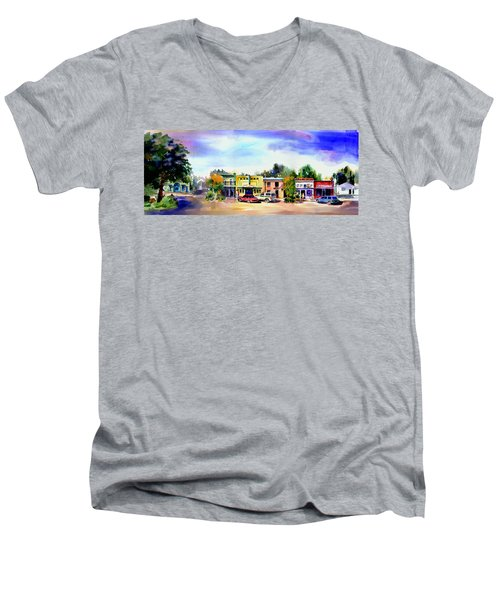 Colfax Main And Church Street Men's V-Neck T-Shirt