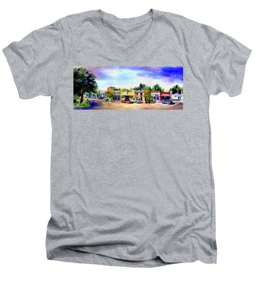 Colfax Main And Church Street Men's V-Neck T-Shirt