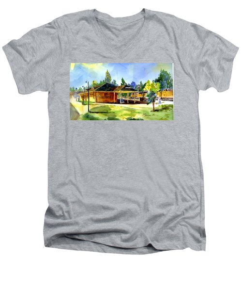 Colfax Rr Depot Men's V-Neck T-Shirt