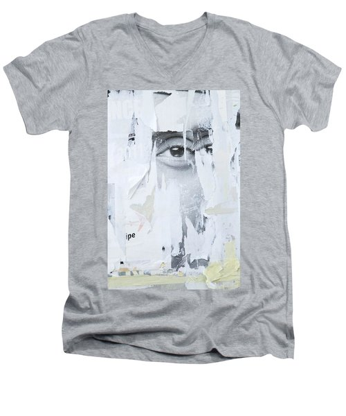 Street Collage 2 Men's V-Neck T-Shirt by Colleen Williams